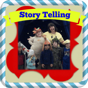 story telling button